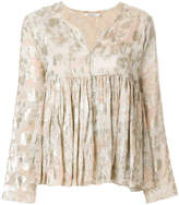 Mes Demoiselles floral flared blouse