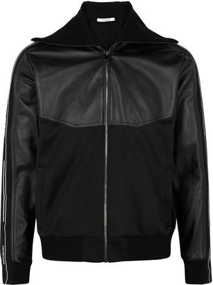 Givenchy Black Leather And Jersey Jacket