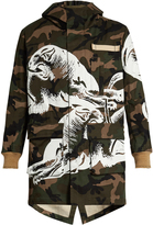 Valentino Panther and camouflage-print parka
