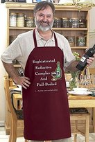 "The Funny Apron Company Sophisticated Seductive Complex and Full-bodied (...And the Wine's Not Bad Either)"" Funny BBQ Apron"