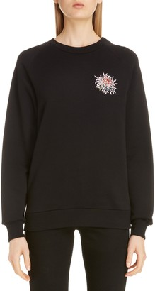Givenchy Beaded Floral Logo Sweatshirt