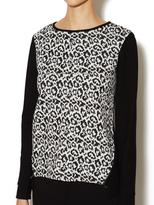 Tibi Leopard Crewneck Pullover
