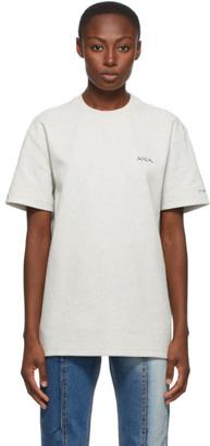 Ader Error Grey Print At Front T-Shirt