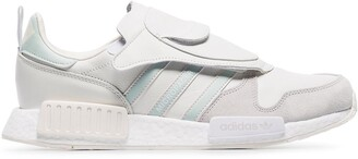 adidas white micropacer x R1 leather sneakers