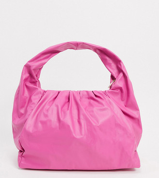 Glamorous Exclusive slouchy ruched tote bag in pink