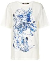 Roberto Cavalli Swirl Motif Cotton T-Shirt