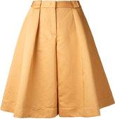 Jil Sander Navy wide-leg cropped trousers - women - Cotton/Linen/Flax - 34