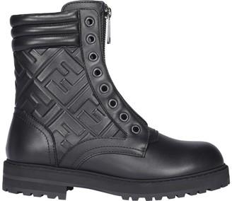 Fendi FF Motif Embossed Boots