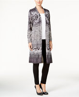 JM Collection Printed Duster Cardigan, Only at Macy's