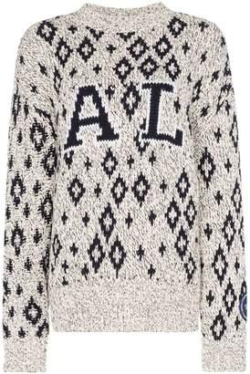 Calvin Klein geometric print knitted jumper
