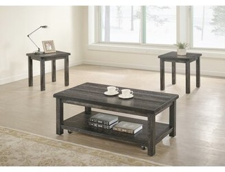 Millwood Pines Tapley 3 Piece Coffee Table Set Color: Dove Gray