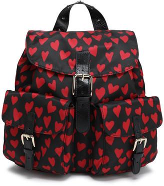 Red(V) Printed Shell Backpack