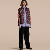 Burberry Peony Rose Print Quilted Jacket