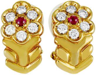 Christian Dior HERITAGE  18K 0.59 Ct. Tw. Diamond & Ruby Earrings