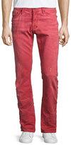 PRPS Demon Distressed Denim Jeans, Red