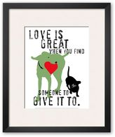 "Art.com Love Is Great"" Framed Art Print by Ginger Oliphant"