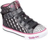 Skechers Twinkle Toes Shuffles Sweetheart Sole Girls High Top Sneakers - Little Kids/Big Kids