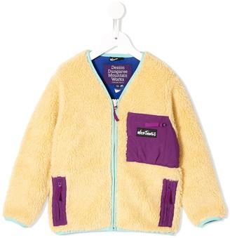 Denim Dungaree fleece effect jacket