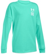 Under Armour Girls' Varsity Logo Drop Shoulder Tee - Big Kid