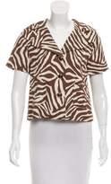Kate Spade Printed Short Sleeve Jacket