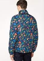Paul Smith Men's Blue 'Earth Floral' Print Down Jacket