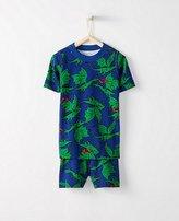 Kids Short John Pajamas In Organic Cotton