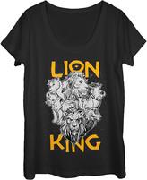 Fifth Sun Women's Tee Shirts BLACK - The Lion King Black Cast Photo Scoop Neck Tee - Women & Juniors