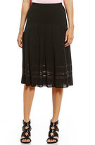 Ming Wang Pleated Elastic Waist Skirt