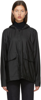 Rains Black Taffeta Rain Jacket