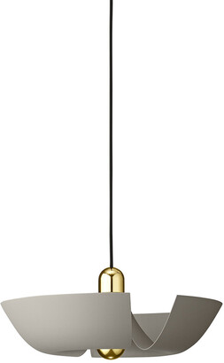 AYTM Cycnus Pendant Light - Taupe & Gold - Large