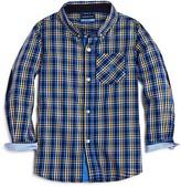 Andy & Evan Boys' Plaid Elbow Patch Shirt - Sizes 2-7