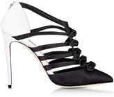 Olgana Paris La Malicieuse Black & White Satin Pump