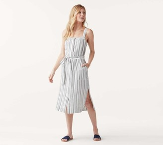 Splendid Striped Belted Midi Dress - Bourne