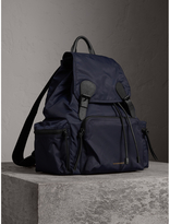 Burberry The Extra Large Rucksack in Technical Nylon and Leather