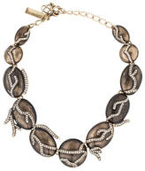 Oscar de la Renta Branch Enamel Collar Necklace