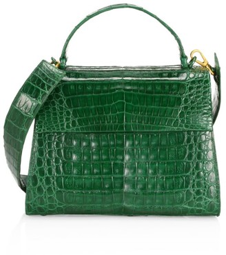 Nancy Gonzalez Large Lexi Crocodile Top Handle Bag