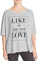 Wildfox Couture Like Is The New Love Tee