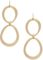 Rivka Friedman 18K Gold Clad Organic Cascading Station Graduated Earrings