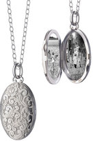 Monica Rich Kosann Carved Sterling Silver Locket Necklace