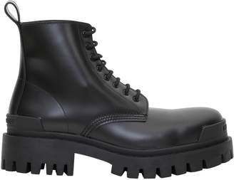 Balenciaga Leather Boots Rubber Sole