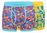 Red Herring Pack Of Two Triangle Geometric Trunks