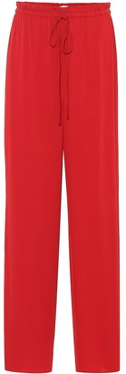 The Row Stretch-silk trackpants