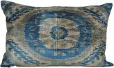 Orientalist Home Dorian 16x24 Silk Pillow, Blue