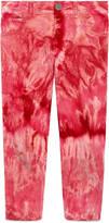 Gucci Children's bleached tie dye corduroy pant