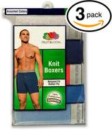 Fruit of the Loom Men's 3Pack Knit Boxer Shorts Boxers Cotton Underwear 3XL