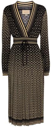 Gucci GG jacquard wool-blend midi dress