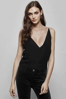 J Brand Lucy Silk Cami in Black