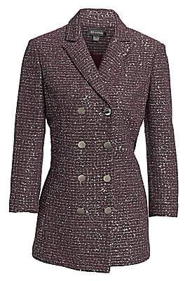 St. John Women's Sequin Tweed Double-Breasted Jacket