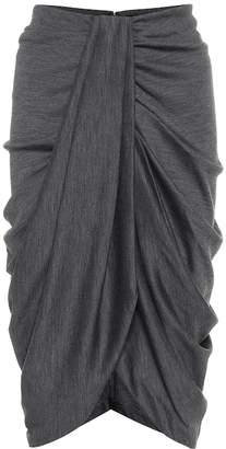 Isabel Marant Datisca wool and cotton midi skirt