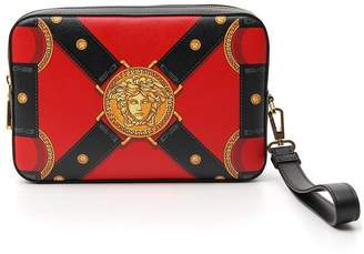 Versace Harness Printed Clutch Bag